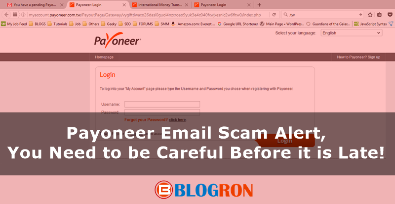 Payoneer Email Scam Alert, You Need to be Careful Before it is Late 2